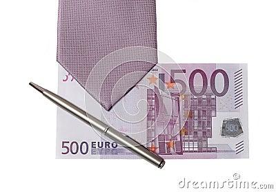 Tie and money