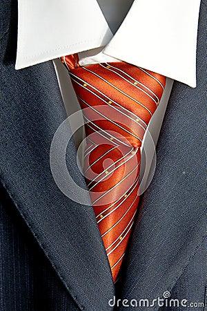 Tie in suit