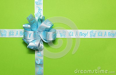 Tied gift light blue ribbon