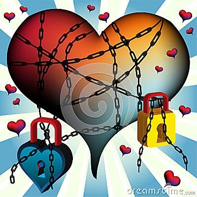 Tied heart