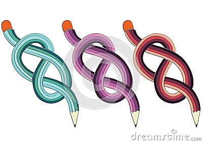 Tied pencils