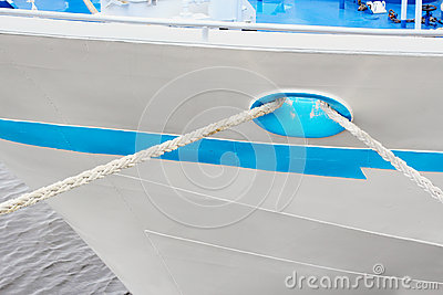 Tied ship