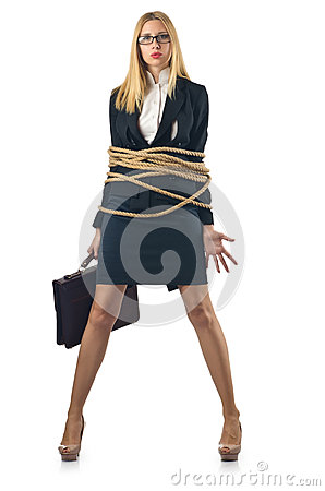 Tied woman