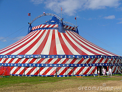 Tienda de la tapa grande del circo