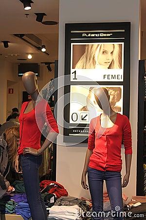 Tienda de ropa para mujer Imagen de archivo editorial