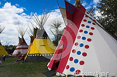 Tiendas de los indios norteamericanos