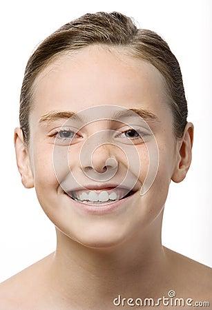 Tiener het glimlachen