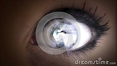Tierra en ella ojos