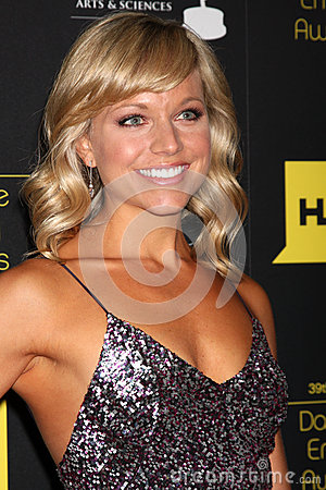 Tiffany Coyne arrives at the 2012 Daytime Emmy Awards Editorial Stock Image