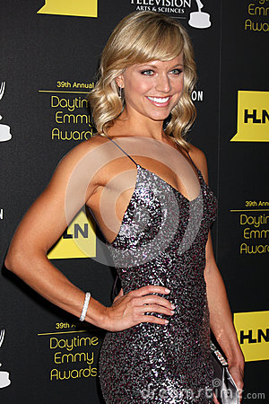 Tiffany Coyne arrives at the 2012 Daytime Emmy Awards Editorial Photo