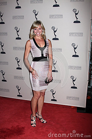 Tiffany Coyne arrives at the ATAS Daytime Emmy Awards Nominees Reception Editorial Stock Image