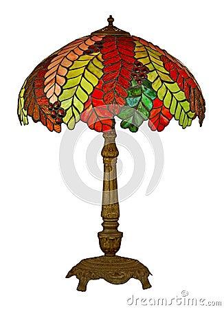 Free Tiffany Lamp Isolated Stock Photography - 38949782