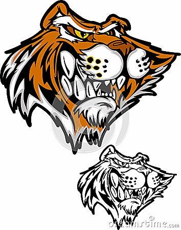 Tiger Cartoon Mascot Vector Illustration