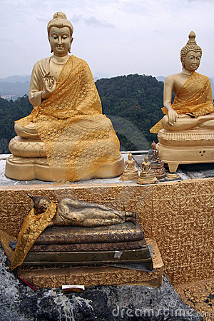 Tiger cave temple buddhas krabi mountains Thailand