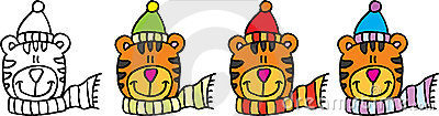 Tiger color set