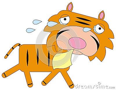 Tiger cries