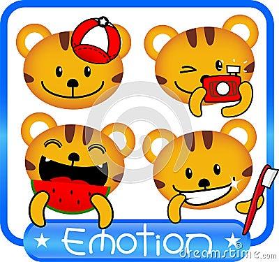Tiger emotion cute