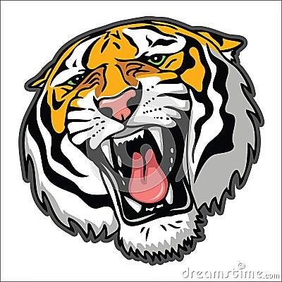 Free Tiger Head Royalty Free Stock Image - 26596396