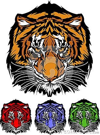 Tiger Head Graphic Mascot Logo
