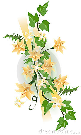 Free Tiger Lily And Ivy Stock Images - 2190514