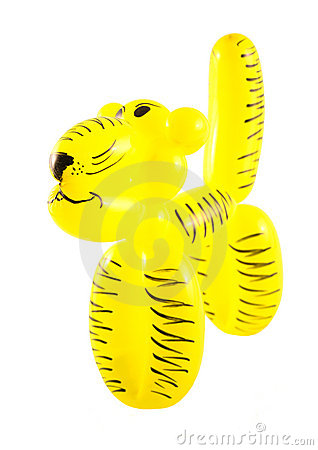 A tiger made from a baloon