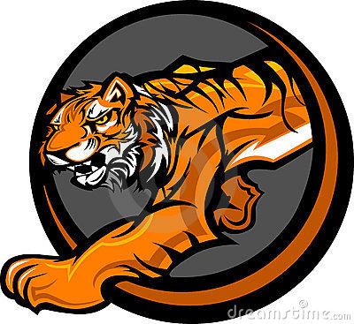Tiger Mascot Body Graphic