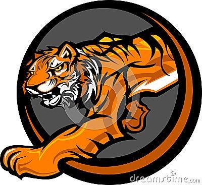 Tiger Mascot Body Graphic
