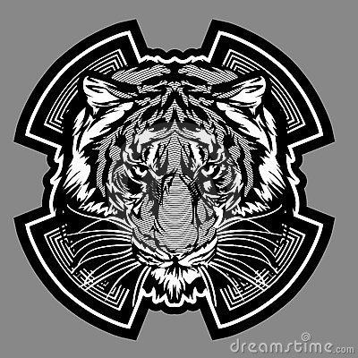 Tiger Mascot Graphic Vector Logo