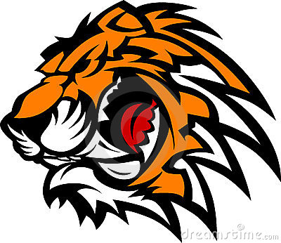 Tiger Mascot Vector Graphic