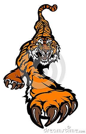 Free Tiger Mascot Vector Logo Royalty Free Stock Photo - 18696855