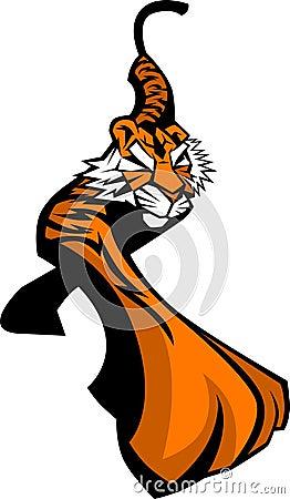 Tiger-Maskottchen-Zeichen