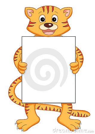 Tiger with message