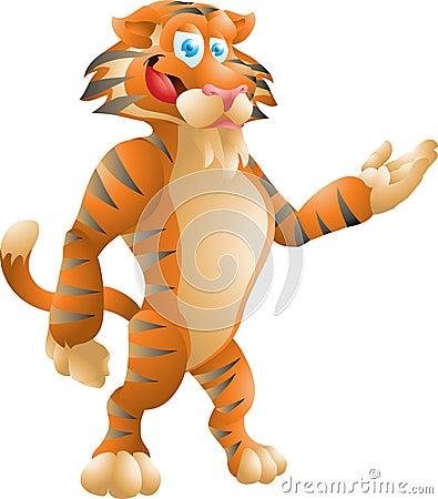 Tiger presenting