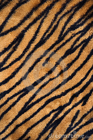 Tiger print carpet
