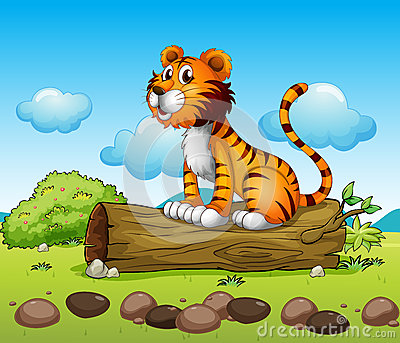 A tiger relaxing