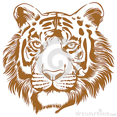 Free Tiger Stencil Royalty Free Stock Images - 35174119