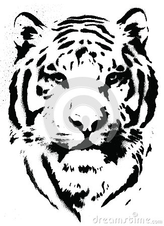 Tiger Stencil Vetor