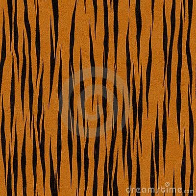 Tiger Stripe Pattern Faux Fur Background
