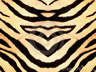 Tiger style fabric texture