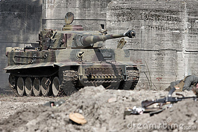 tiger tank stock photography image 23331092. Black Bedroom Furniture Sets. Home Design Ideas