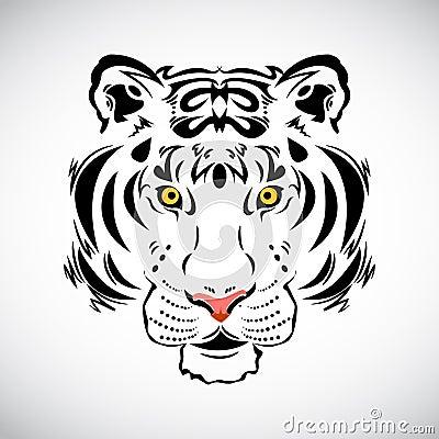 Tiger tattoo stylish illustration