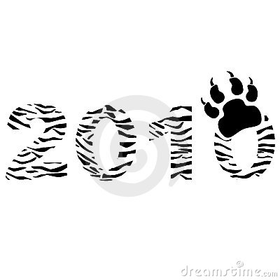 Tiger type New year sign concept.