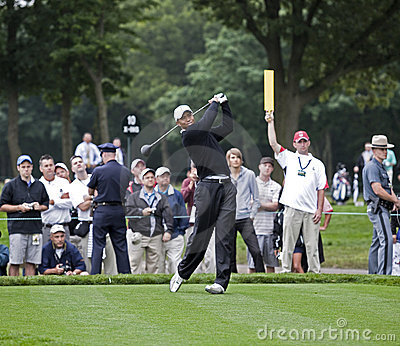 Tiger Woods at the 2009 US Open Editorial Stock Photo