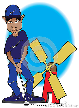 Tiger Woods at miniature golf course Editorial Stock Photo