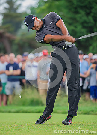 Tiger Woods at the 2013 US Open Editorial Stock Photo