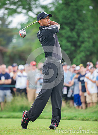 Tiger Woods at the 2013 US Open Editorial Image