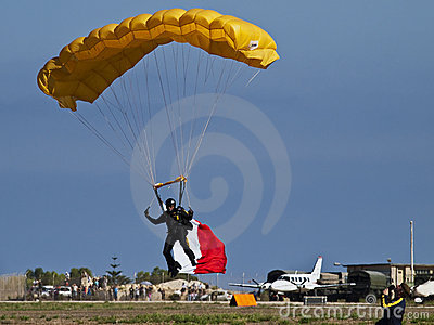 Tigers FreeFall Parachute Team Editorial Stock Image