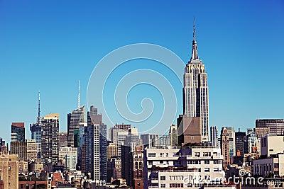 Empire State Building Midtown Manhattan Skyline New-York