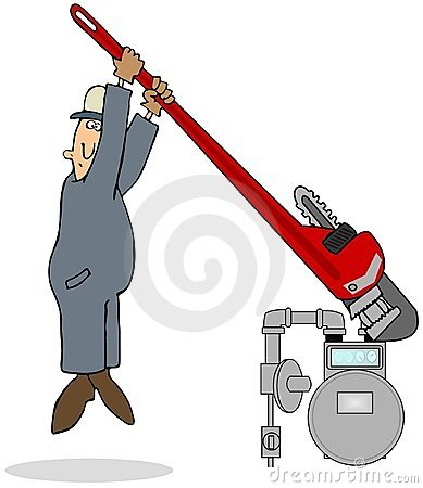 Tight Plug On A Gas Meter
