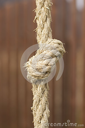 Tight rope knot